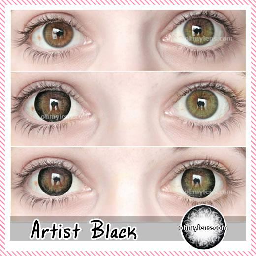 Artist Black Contact Lenses 06