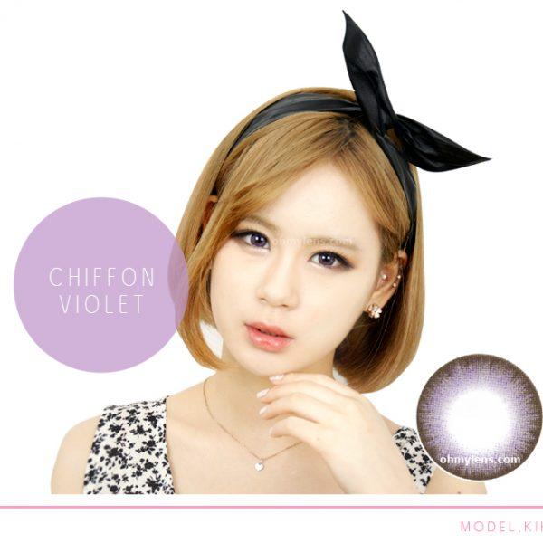 Chiffon Violet Contact Lenses for Farshightedness Hyperopia 02