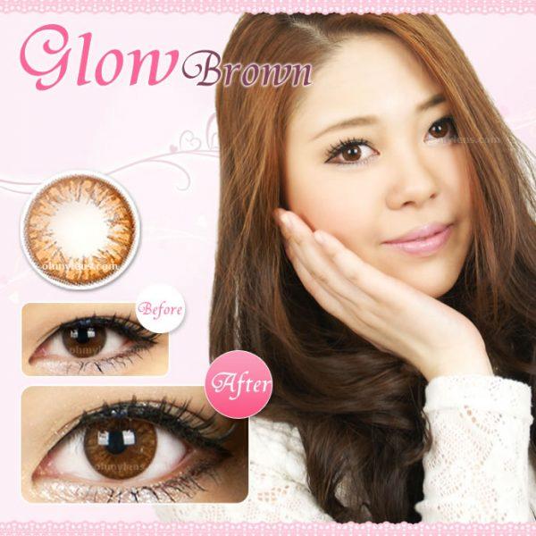 Glow Brown (Mini) Contact Lenses 01