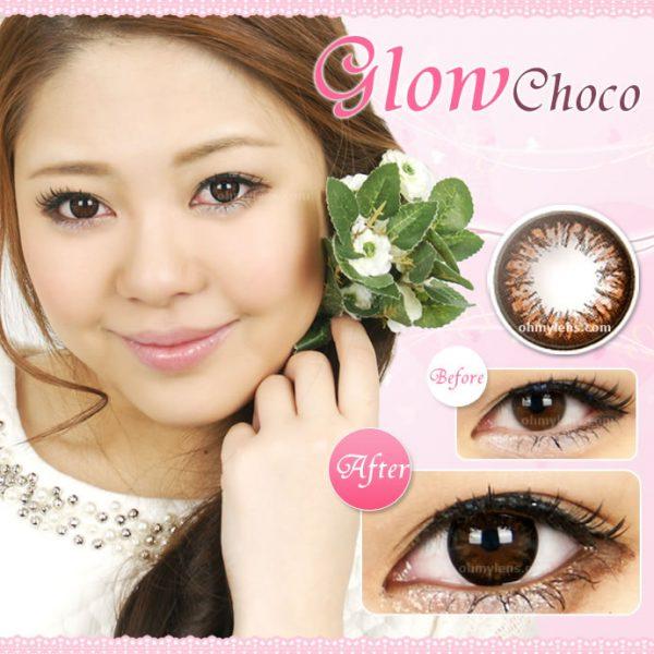 Glow Choco (Big) Contact Lenses 01