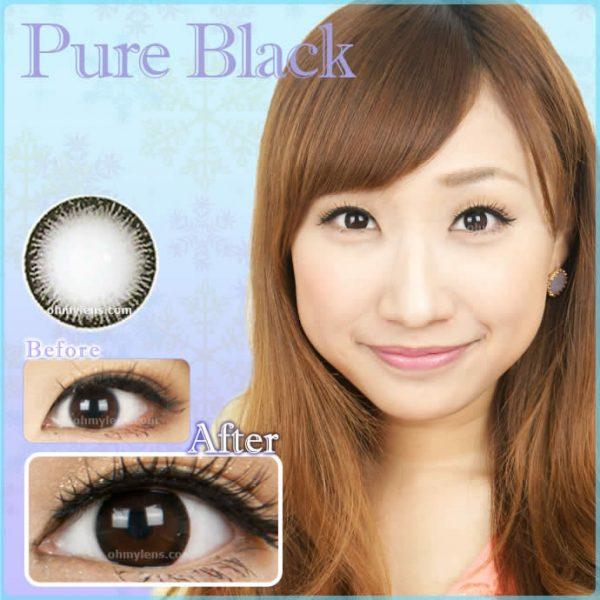 Pure Black Contact Lenses 01