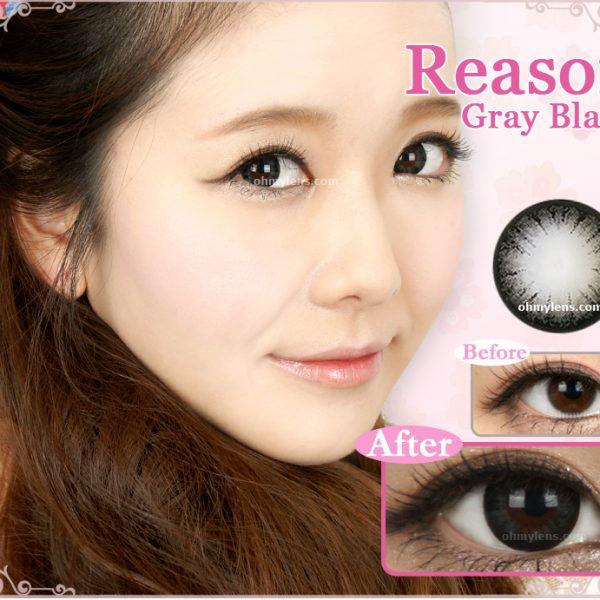 Reason Gray Black Contact Lenses for Farshightedness Hyperopia 01