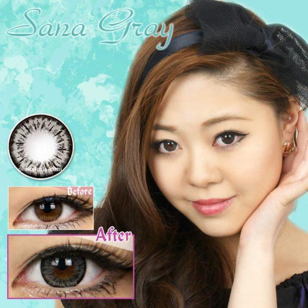 a beautiful girl with sana gray contact lenses 01