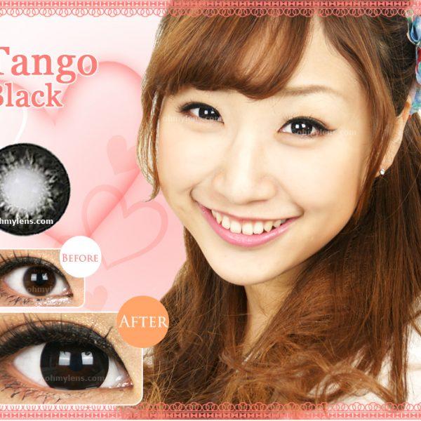 a beautiful girl with Tango Black Contact Lenses 01