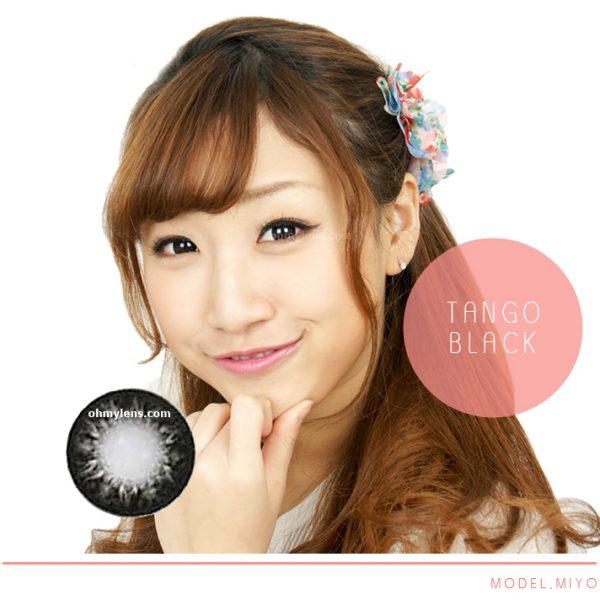 a beautiful girl with Tango Black Contact Lenses 02