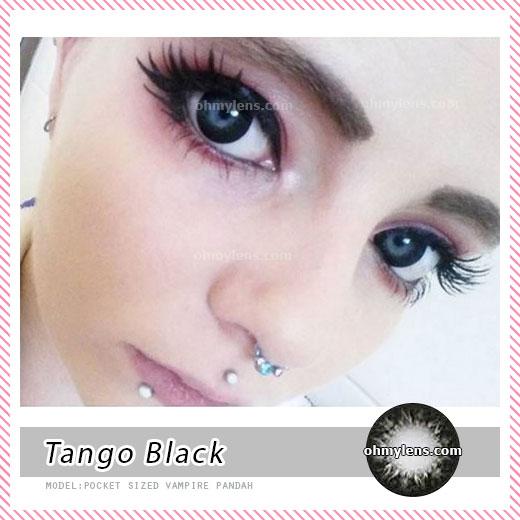 a beautiful girl with Tango Black Contact Lenses 03