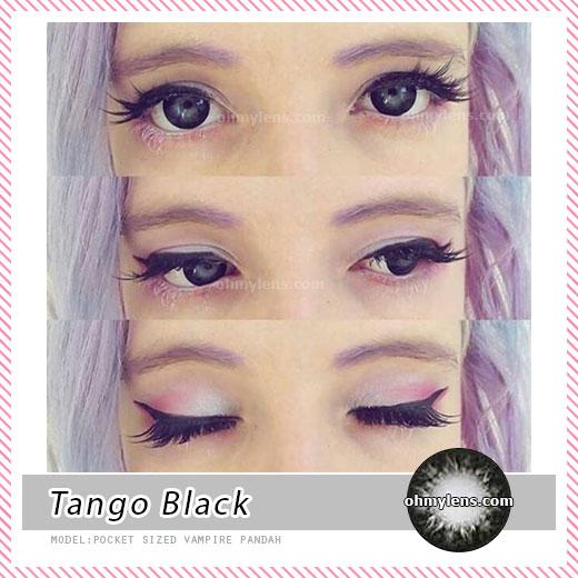 a beautiful girl with Tango Black Contact Lenses 05