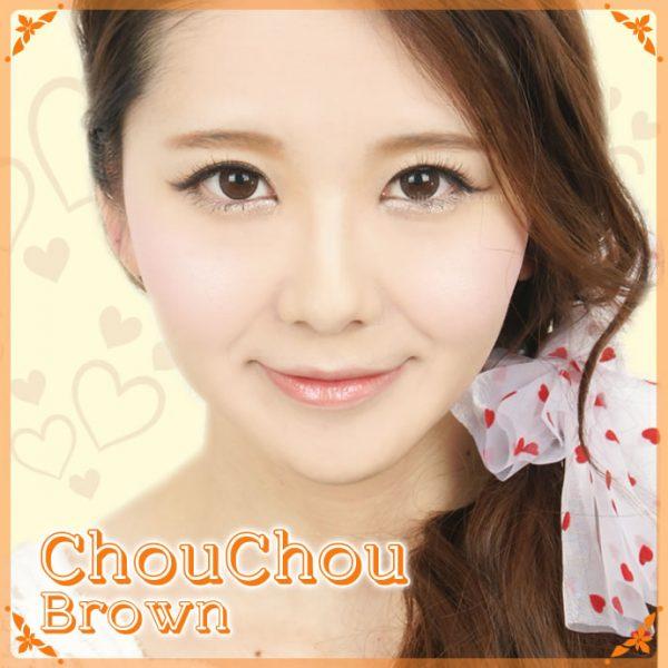 a beautiful girl with Chou Chou Brown Contact Lenses 03