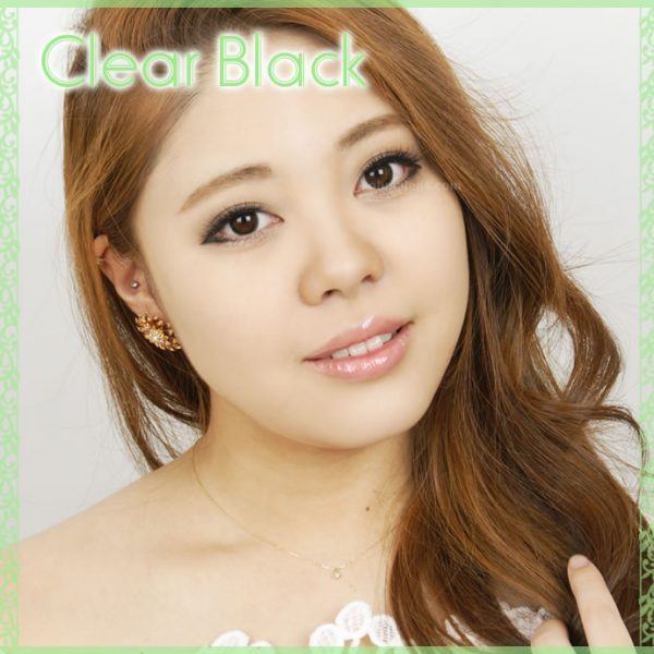 a beautiful girl with Clear Black Contact Lenses 03