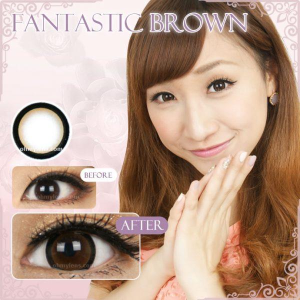 Fantastic Brown Contact Lenses 01