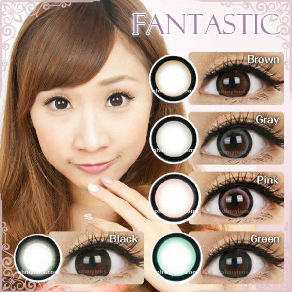 a beautiful girl with a beautiful girl with Fantastic Gray Contact Lenses 02
