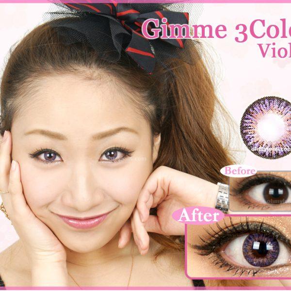 Gimme 3 Color Violet Contact Lenses (3 Tone Violet) 01