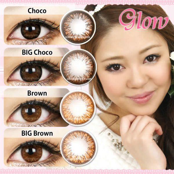 a beautiful girl with Glow Choco (Mini) Contact Lenses 04