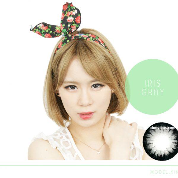 a beautiful girl with Iris Gray Contact Lenses 02