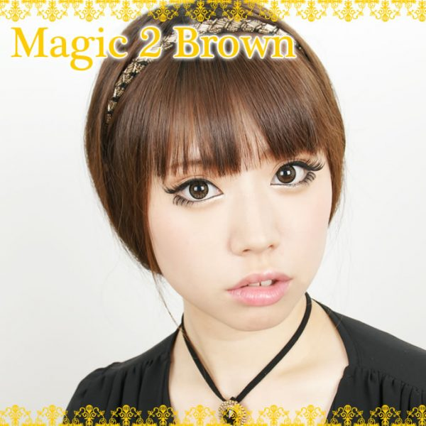 a beautiful girl with Magic 2 Brown Contact Lenses 02