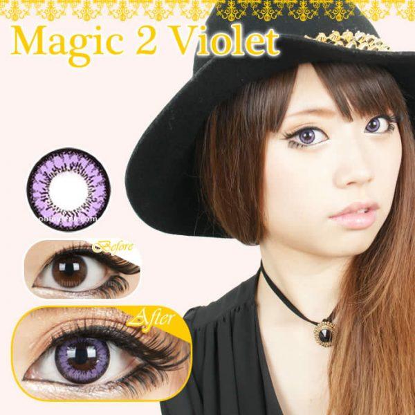 Magic 2 Violet Contact Lenses 01