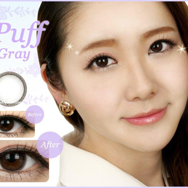Puff Gray Contact Lenses 01