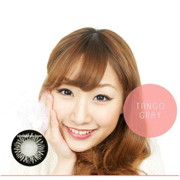 a beautiful girl with Tango Gray Contact Lenses 02