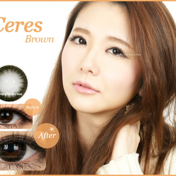 a beautiful girl with Ceres Black Contact Lenses 01