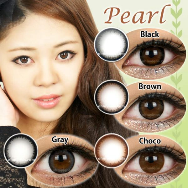 a beautiful girl with Choco Pearl Contact Lenses 04