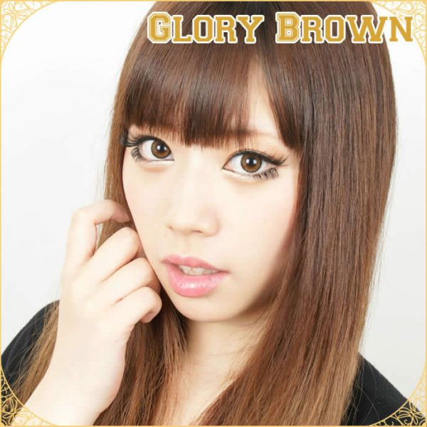 a beautiful girl with Glory Brown Toric Contact Lens for Astigmatism 04