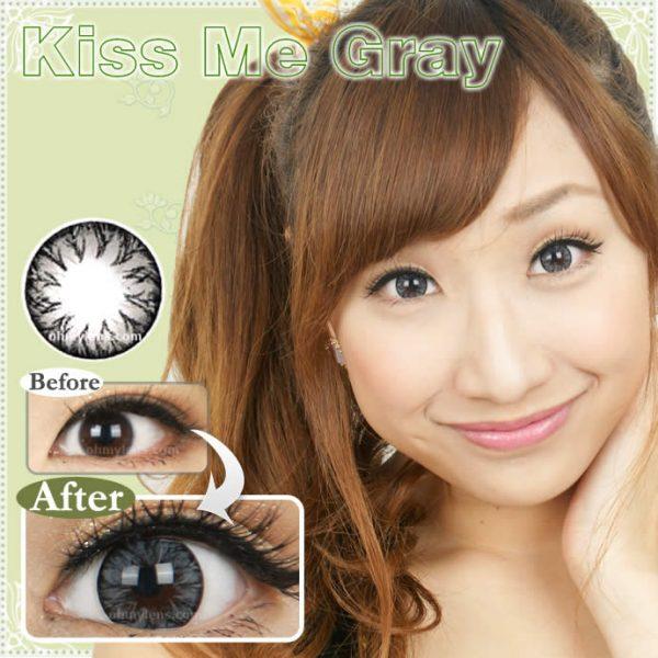 Kiss Me Gray Contact Lenses 01