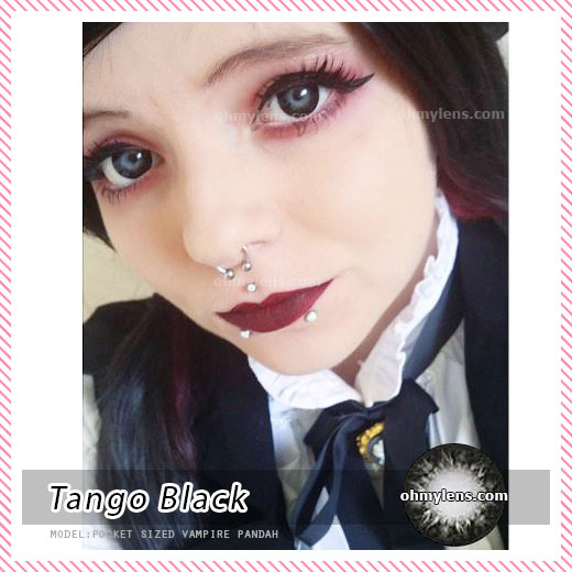 a beautiful girl with Tango Black Contact Lenses 04